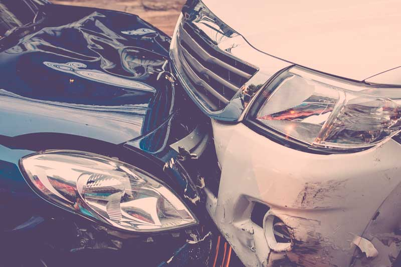 Damage to the belongings caused by the reciprocal collision of vehicles without determining the degree of guilty of each driver